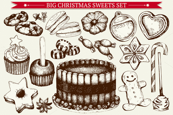 BIG CHRISTMAS SWEETS SET