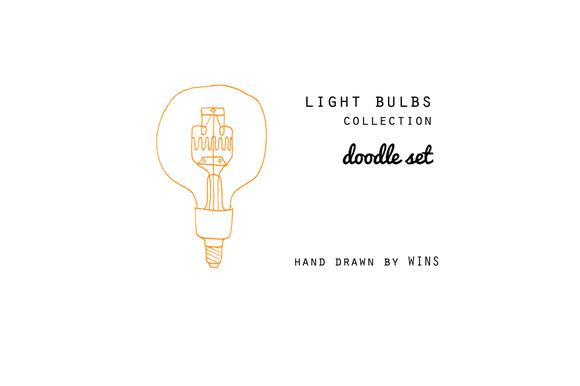 Light Bulbs Doodle Set