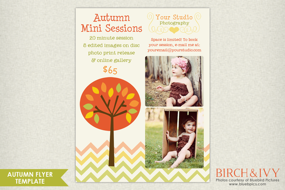 Fall Marketing Board Flyer Template