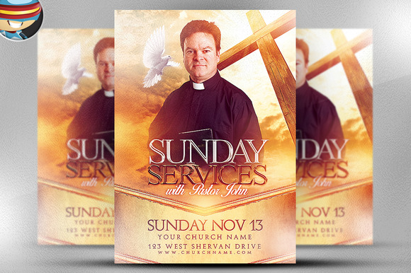 Sunday Service Flyer Template