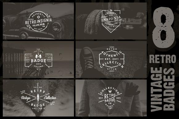30% OFF 8 Retro Vintage Badges