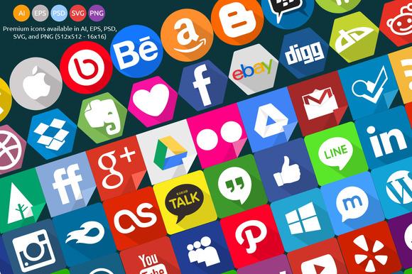 240 Social Icons Set