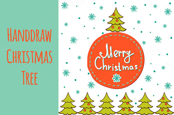 Handdraw Christmas Tree
