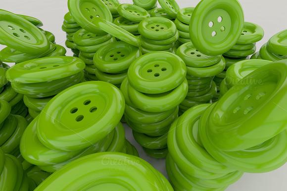 Falling Green Buttons