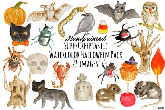 Watercolor Halloween Superpack