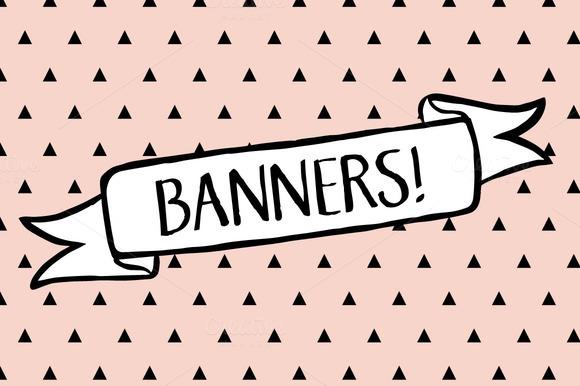 Banners Clip Art BONUS Background