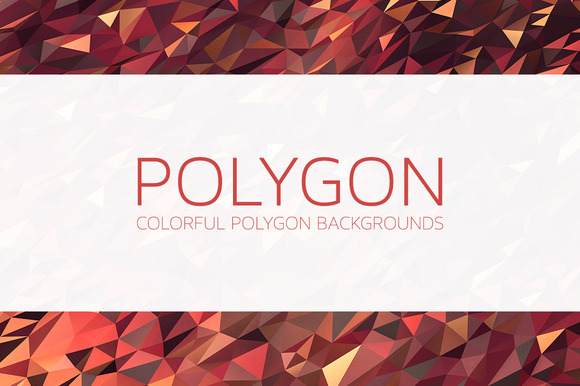 Colorful Polygon Backgrounds V2