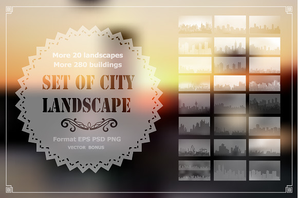 Vector Set Of City Landscape