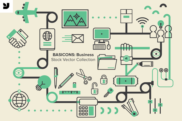 YWFT Basicons Business Icons