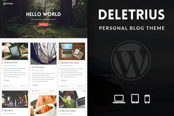Deletrius Blog Portfolio WP Theme