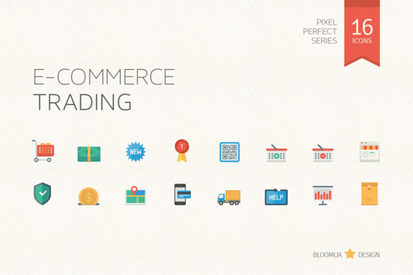 E-Commerce Trading Flat Icons