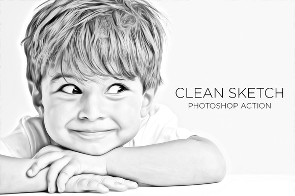 Clean Sketch Photoshop Action