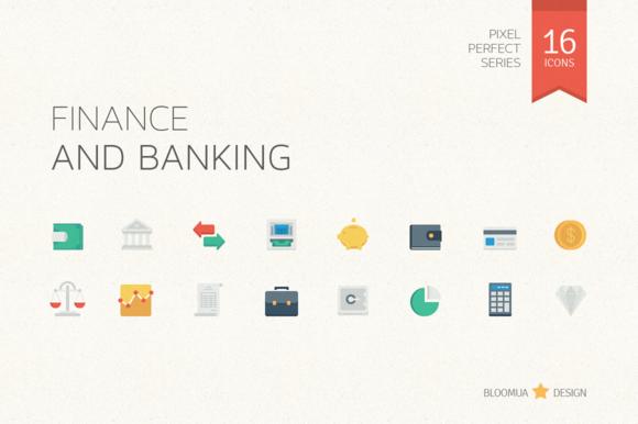 Finance Banking Flat Icons