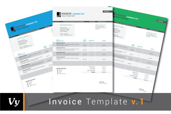 Professional Invoice Set