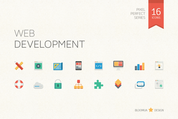 Web Development Flat Icons