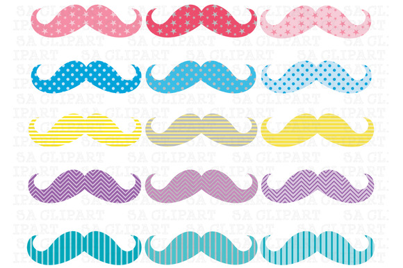 Mustache Digital Clip Art