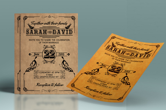 Vintage Wedding Stationery Set