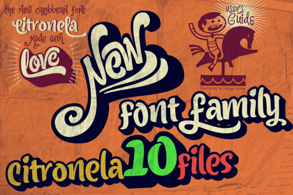 50%OFF Citronela Font Family