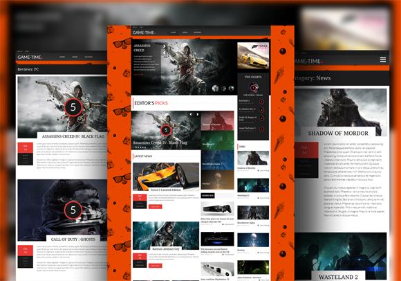 Gametime Responsive Magazine Theme
