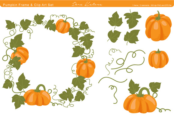 Pumpkin Frame And Clip Art