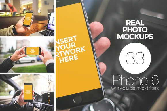 33 Exclusive IPhone 6 Photo Mockups