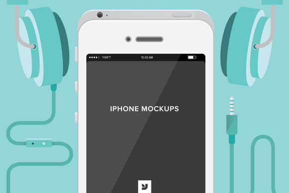 $2 Iphone Mockups By YWFT