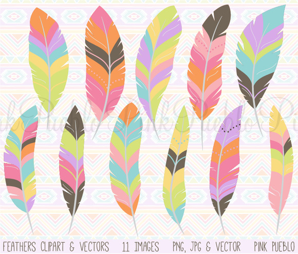 Tribal Feather Clipart And Vectors