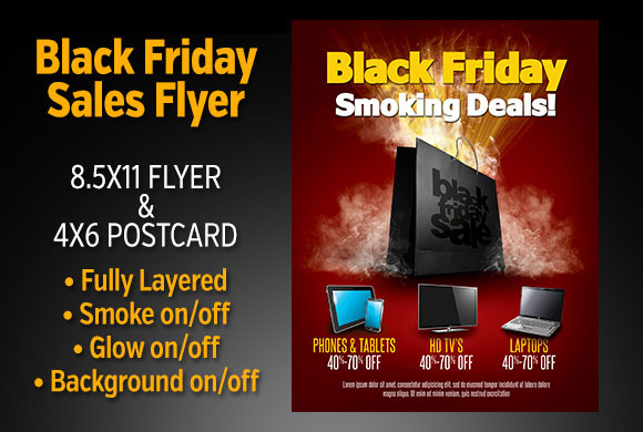 Black Friday Sales Flyer Set