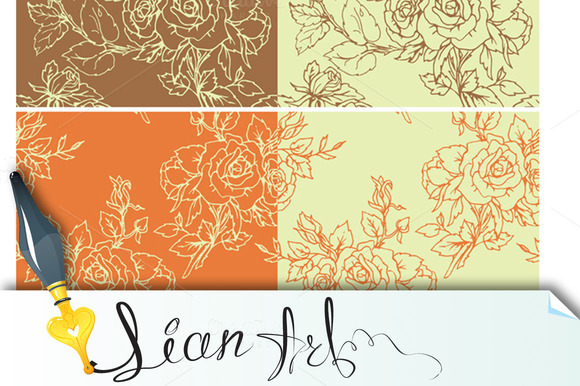 Floral Seamless Pattern With Roses