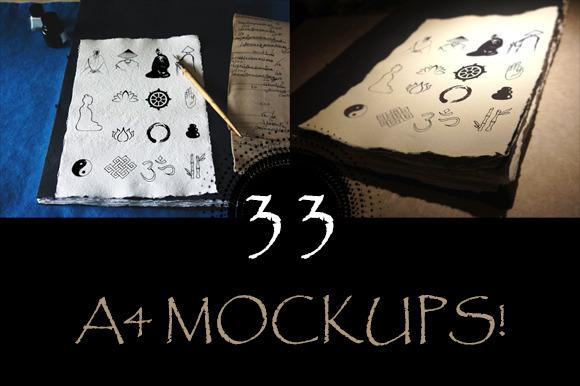 33 A4 Size Mockups