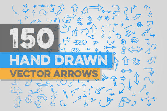 150 Hand Drawn Vector Arrows