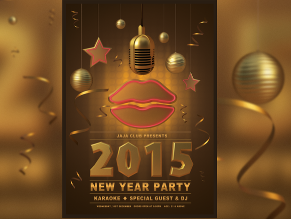 Gold New Year Party