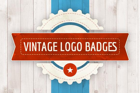 7 Vintage Logo Badges