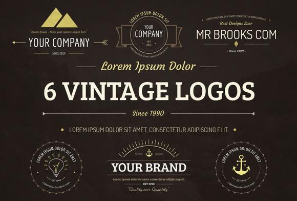 6 Vintage Logos Bonus