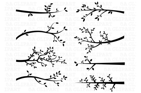 Branch Silhouettes Clipart