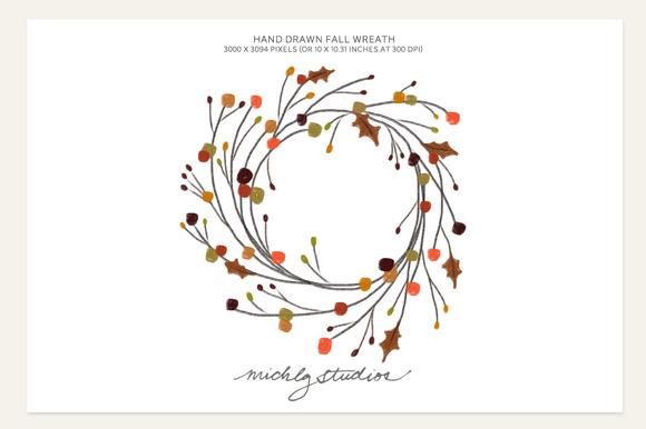 Hand Drawn Fall Wreath