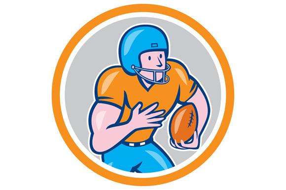 American Football Receiver Running B