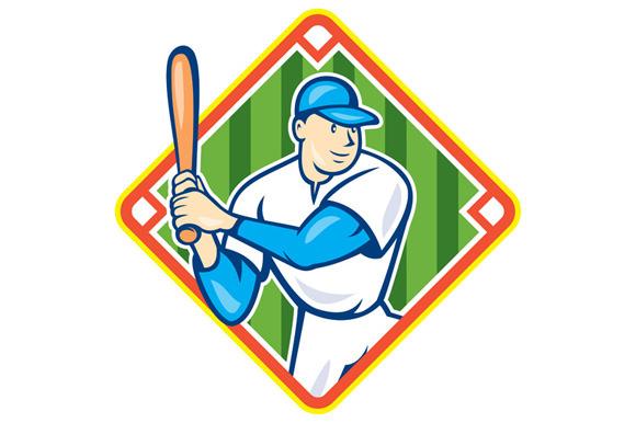 American Baseball Player Batting Dia