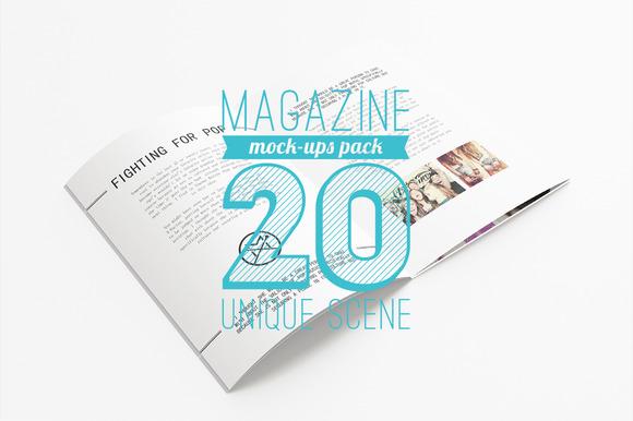 20 Magazine Mock-ups Pack
