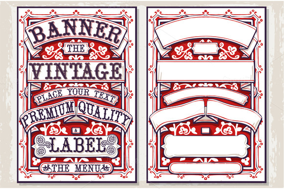 Graphic Vintage Labels And Banners