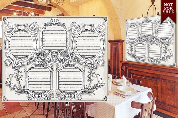Vintage Blackboard Restaurant Menu