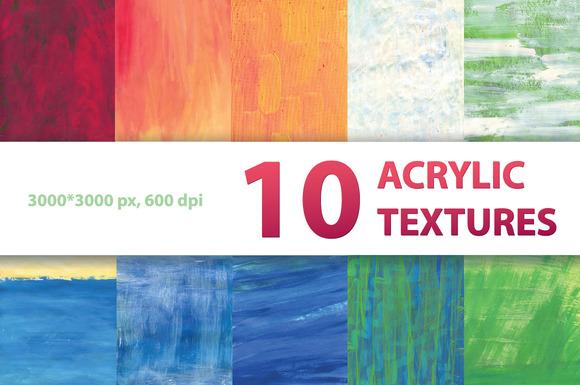 10 ACRYLIC TEXTURES