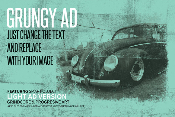 Grungy Posters Ads