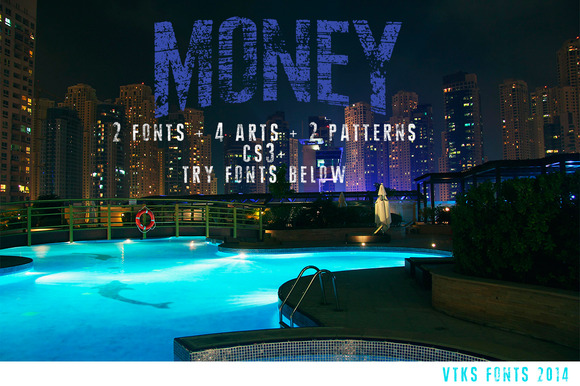 Money Font 4arts 2patterns Cs3