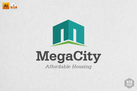 Mega City Real Estate Logo Template