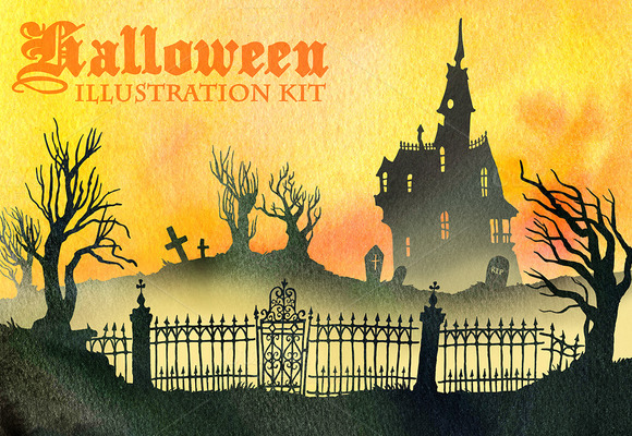 Halloween Illustration Kit