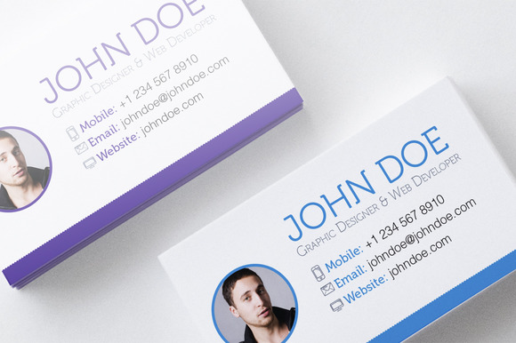 4 Colorful Textured Business Cards
