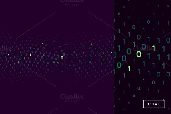 0s 1s Binary Data