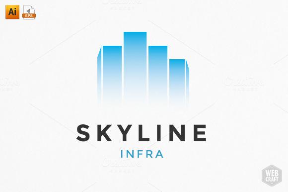 Skyline Real Estate Logo Template