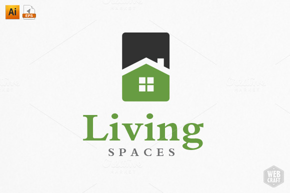 Living Spaces Logo Template